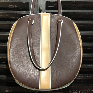 ALALUNA Spain Leather Zip Around Tote Shoulder Bag